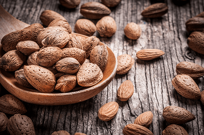nuts rich in iron