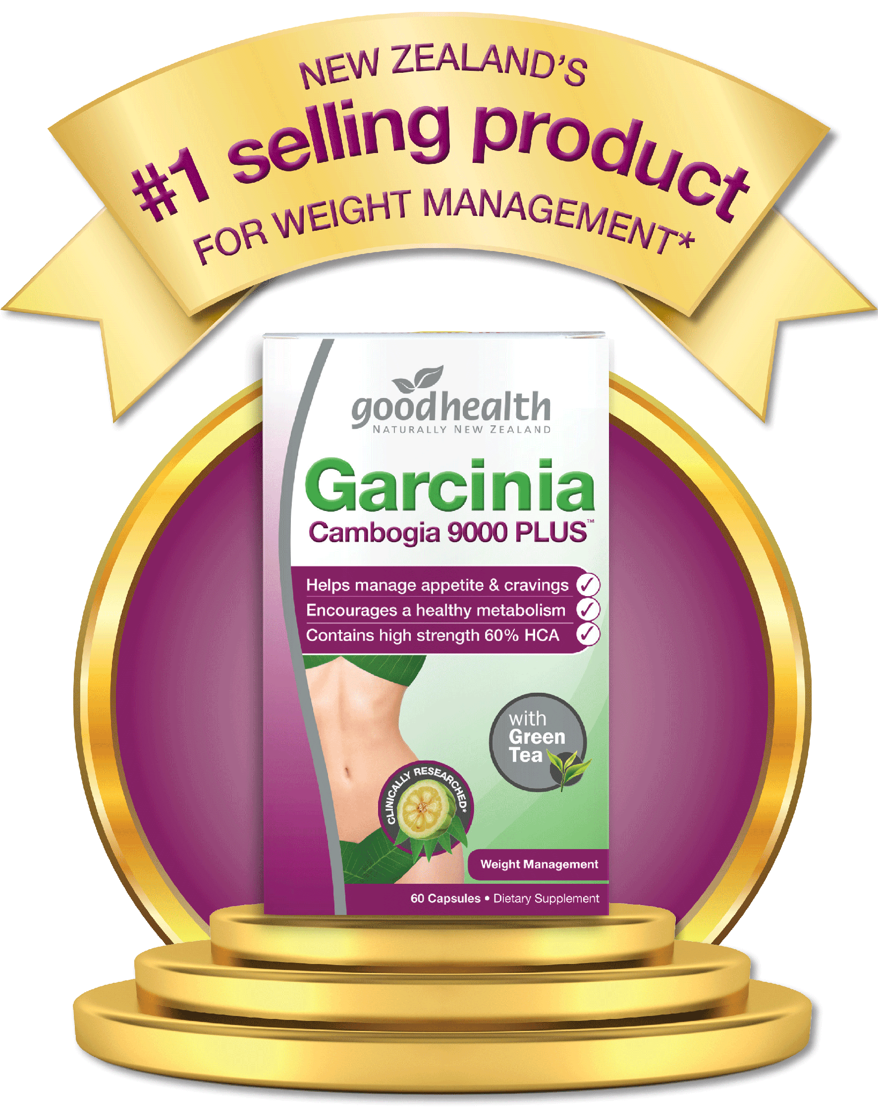 Garcinia Cambogia 9000 Plus With Green Tea Good Health