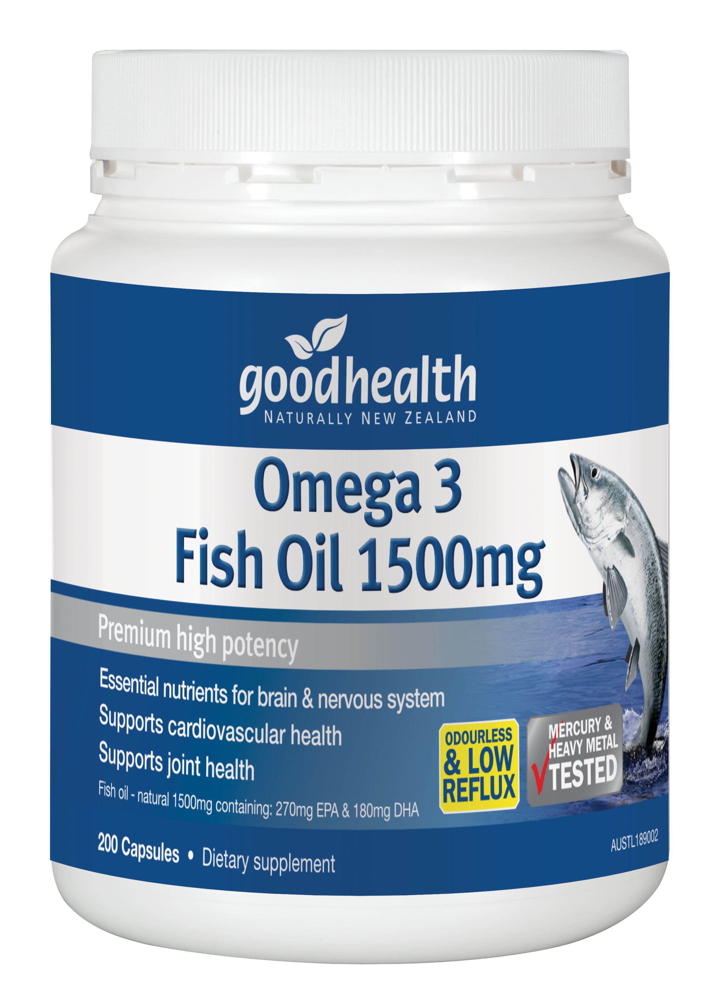 1500mg good health for What is omega 3 fish oil good for