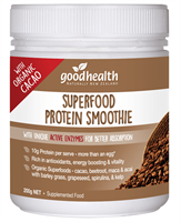 Superfood Protein Smoothie with Organic Cacao