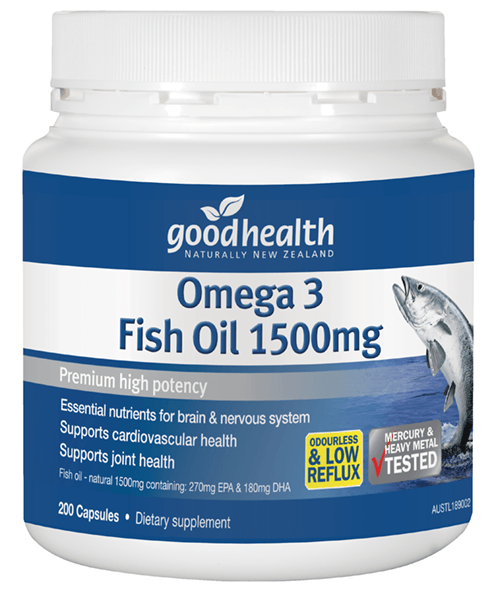 Omega 3 fish oil 1500mg good health for What is omega 3 fish oil good for