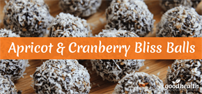 Apricot & Cranberry Bliss Balls
