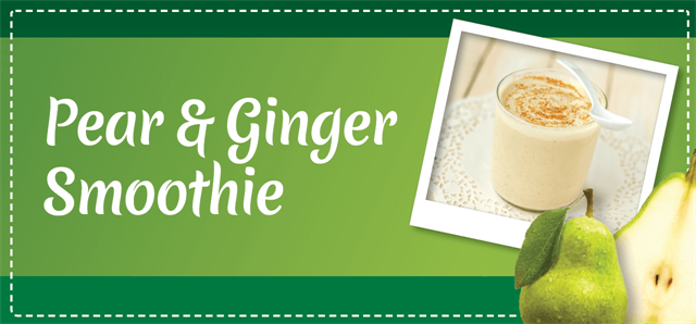 Pear & Ginger Smoothie